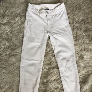 White Low Rise AE Jeans